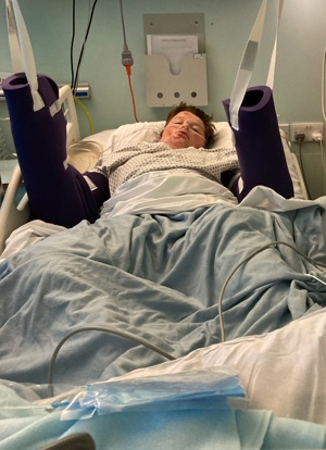 13 year old Harry in hospital
