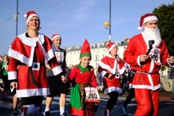 A Santa flash mob or Santa run is a great way to fundraise for Devon Air Ambulance