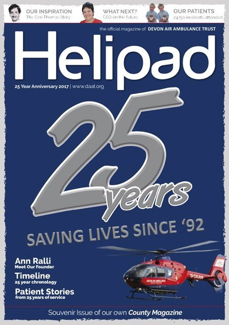 Helipad magazine 25th Anniversary cover