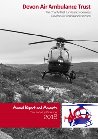 Annual Report Front Cover helicopter on a hillside
