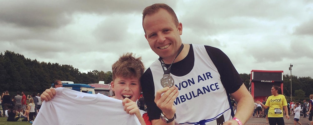 Alan and Jake Matthews raise funds for Devon Air Ambulance