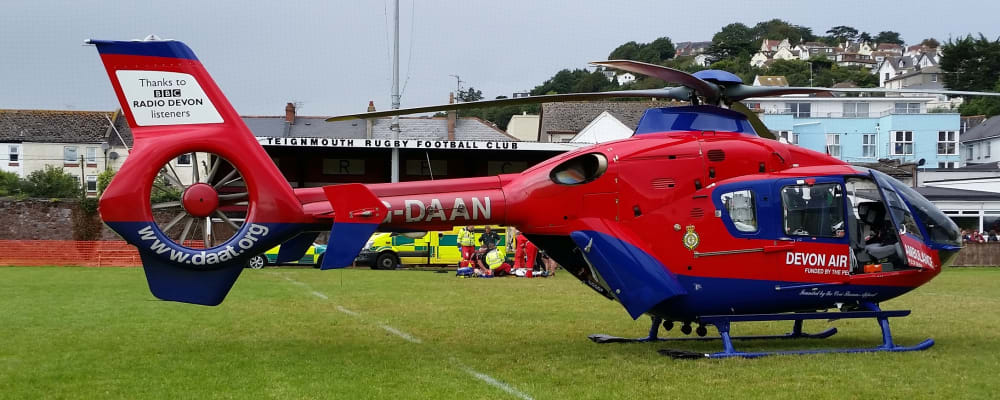 Teignmouth Rugby Club becomes night landing site