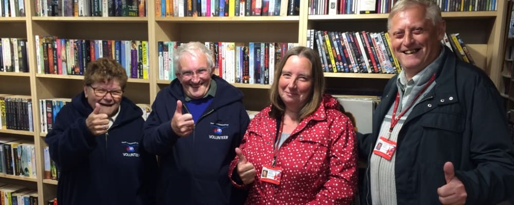 Volunteers in one of our charity shops