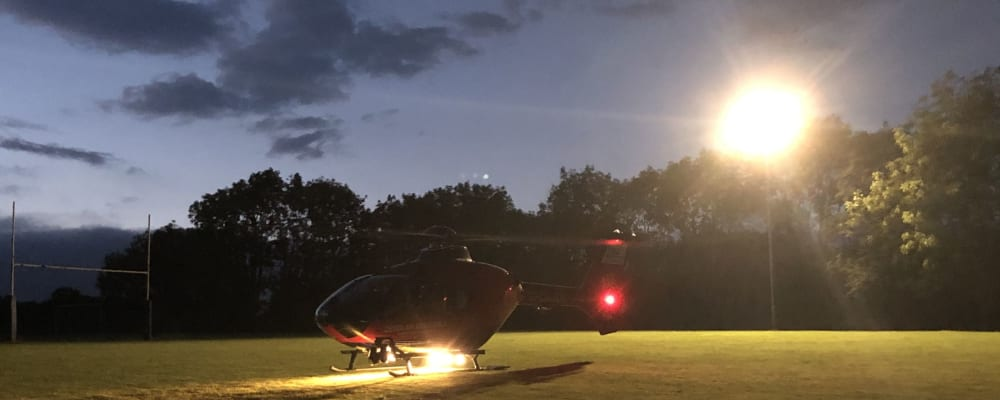 Devon Air Ambulance welcomes the 150th community landing site into operation