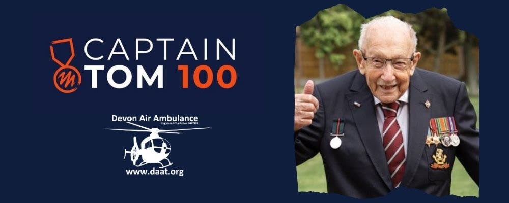 Support us with the Captain Tom 100 Challenge