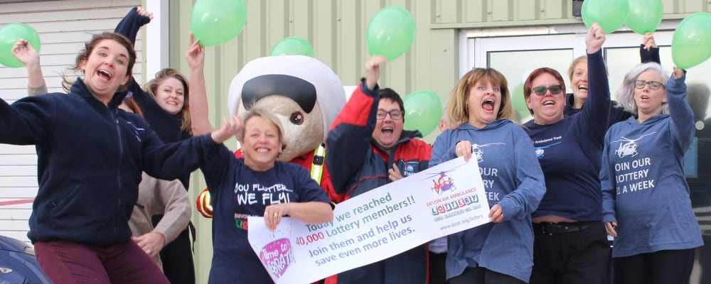 Devon Air Ambulance celebrates its 40,000th lottery member