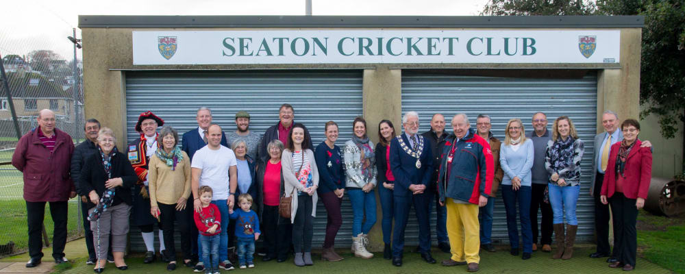 Cricket Club raises teacups in celebration of new Community Landing site