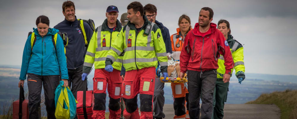 Devon Air Ambulance crews on rural training expedition
