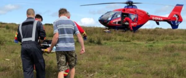 Patient Janet Scott airlifted at Withypool