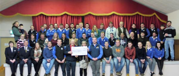 Bradworthy Federation of Young Farmers cheque presentation