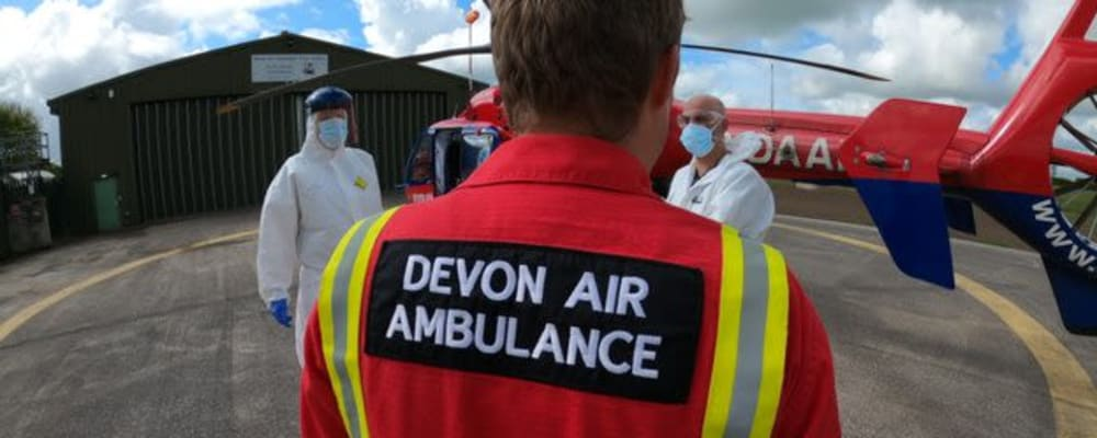 Devon Air Ambulance resumes flying