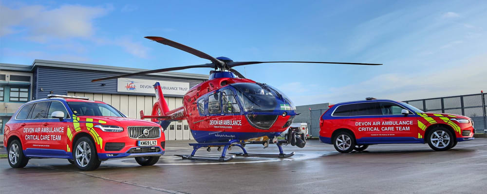Devon Air Ambulance expands service with 2 Critical Care Cars