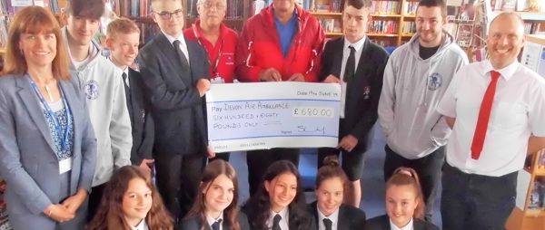 Teign Ten Tors students raise £680 for Devon Air Ambulance